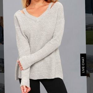 RD Style Cut Out Sweater Small NWOT